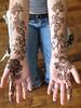 simple arabic style bridal henna (HennaLounge) Tags: wedding bride gulf arabic henna mehndi khalijee