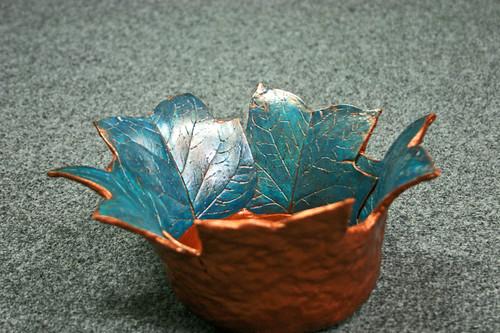 Copper Leaf Vessel