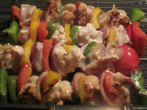 Yakitori chicken, cooking