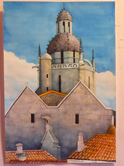 """St-fort-sur-Gironde"" Charles Hobbs 2009 (charleswesleyhobbs) Tags: france watercolor charles charlie chateau hobbs gironde"