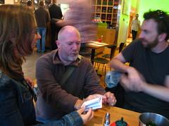 Paul gives Natalie a pocket book