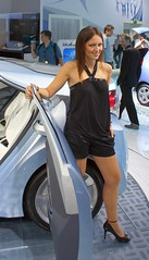 Hostess @ Hyundai Blue-Will Plug-In Hybrid Concept Car (Andy_BB) Tags: auto show hot sexy cars girl beautiful beauty car