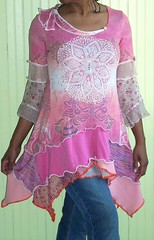 Pink, jersey collage tunic (brendaabdullah) Tags: fashion clothing oneofakind womens tops ecofriendly deconstructed reconstructed tunic knitwear pieced diyfashion recycledsweaters sustainablestyle indiefashion restyled ecoconscious brendaabdullah