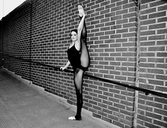 Sara / ballet dancer watford (walnutwax photography) Tags: street portrait blackandwhite ballet black london girl beautiful dance nikon ballerina pretty dancer stunning slippers watford leotard balletslippers d90