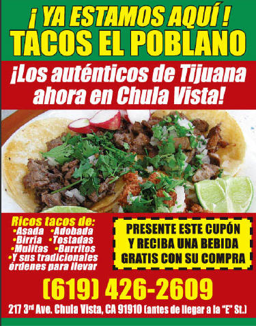 Tacos El Poblano Now In Chula Vista