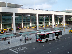 Barcelona airport terminal T1 taxi rank