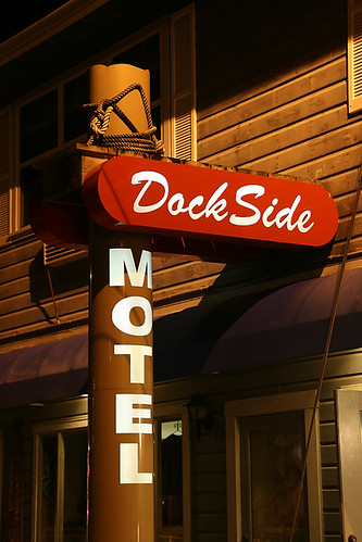 Dock Side Motel Signage