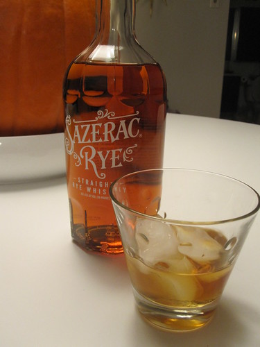 Bit of Sazerac on ice