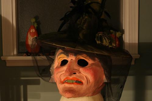 HUGE Paper Mache Witch Head