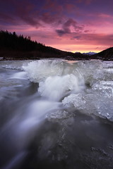 Keevy Sunset (Wolfhorn) Tags: sunset cold ice nature water alaska creek wilderness rushing keevy