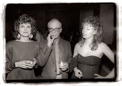 At the Hockney Opening c 1982 by mcmorgan08