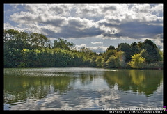 (HDR Image) Hermitage Lake Whitwick Leicestershire UK (Carl Battams I carlbattamsphotography.com) Tags: trees sky lake nature water canon reflections landscape photography eos carl hdr battams whitwick 400d