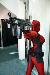 Deadpool's Gun (BelleChere) Tags: lady comics costume gun cosplay marvel bellechere deadpool rule63 ladydeadpool femaledeadpool