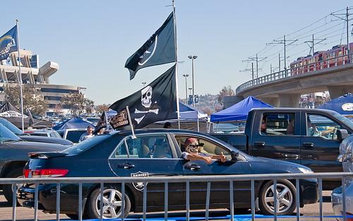 Raiders fans in San Diego