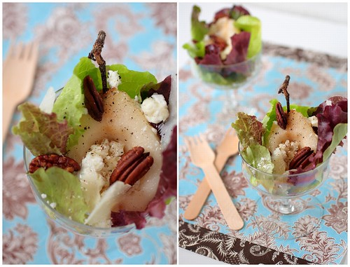 Deconstructed Pear and Walnut Salad