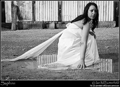 Trash the dress - playing in puddles (Ian M Butterfield) Tags: 2030 20s britain british douglas boatyard eu england english europe european gb great hesketh bank lancashire lancs nw north west uk united kingdom adult adults attractive body part bride brunette caucasian crouching damp dirty ethnic group female fetish geographic features girl hair lady light skin messy moist mud person puddle splosh sploshing trash dress twenties wam water wedding wet white woman women young