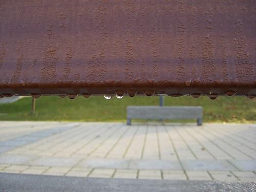 Bench raindrops (2)