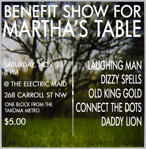 martha's table flier copy