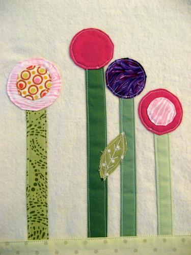 Baby Blanket - Modern Garden Detail 2