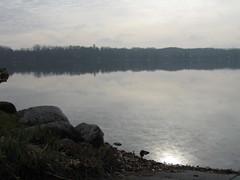 Late fall sun on Glen Lake