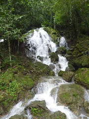 A waterfall on the way to the caves.