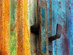 Stripes (Tina Jarnling) Tags: texture colors rust stripes rost frger rnder