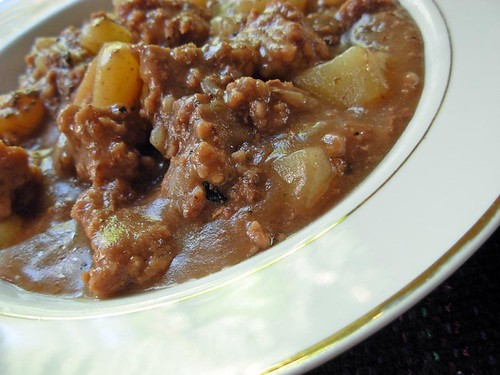 Mushroom Ground Beef Stew