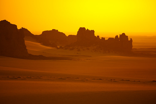 [フリー画像] 自然・風景, 砂漠, オレンジ色, サハラ砂漠, アルジェリア, 201005020300