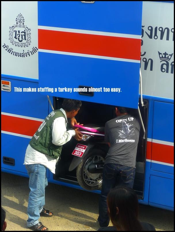 Motorbike in Bus