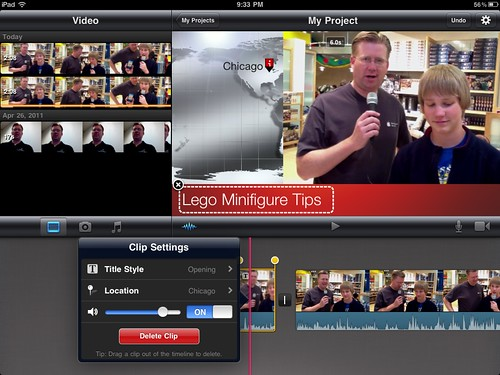 Adding iReporter Theme in iMovie for iPad