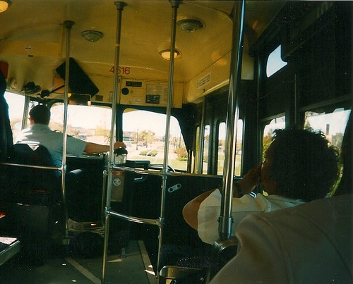 Riding onboard the yellow PCC electric streetcar.  Kenosha Wisconsin USA. October 2003. by Eddie from Chicago