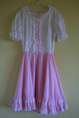 Vintage Jeri Bee Square Dance Dress (honor) Tags: pink ladies girls vintage square dance women dress dancing lace swing retro line teen 1950s teenager rockabilly 50s