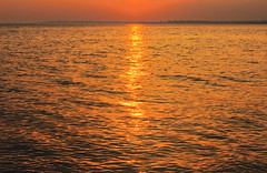 Dazzle (DeeeeLAN) Tags: ocean winter light sunset sea beach nature water canon island march long shadows dof connecticut sound dazzle