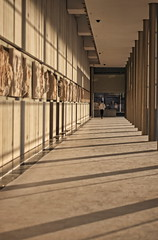 the parthenon frieze (helen sotiriadis) Tags: sunset canon perspective athens frieze parthenon greece acropolis canonef50mmf14usm   theacropolismuseum canoneos40d  toomanytribbles