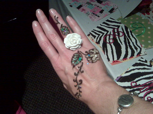 A vendor at the craft show was doing henna tattoos and Ive always wanted to