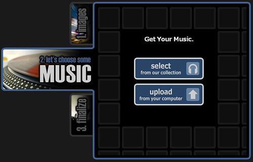 Animoto - Add music