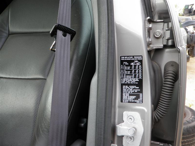 2002 saab 95 sticker location