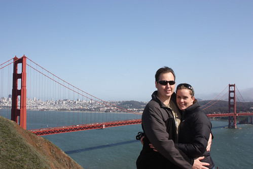 Mat and Kelly at the Golden Gate Bridge