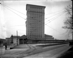 Trolley Entrance on the East side of Michigan Central Station (mcsdetroitfriend) Tags: history michigan detroit trains trolleys michigancentralstation michigancentraldepot historicalphotography manningbrothersphotographicarchive