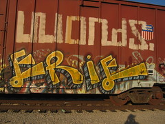 erie (action word) Tags: train graffiti losangeles erie 213 323 freights