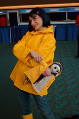 Comic Con 09: Coraline (earthdog) Tags: 15fav movie costume sandiego cosplay raincoat comiccon 2009 coraline moviecostume unknownperson sdcci comiccon09 upcoming:event=958403 upcoming:event=1494437 needscamera needslens