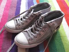 ASH - metallic baseball boots