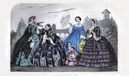 April 1860 Godey's Lady's Book Fashion Plate