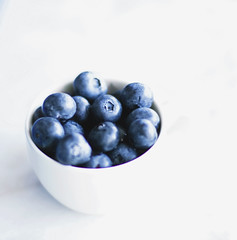 1's too many, 10's not enough (Sandra_R) Tags: blue white cup fruit canon berry 50mmf14 bilberry mirtilo