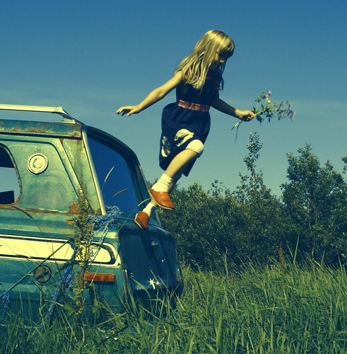 jumping from the green car by bryndisbj.