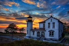 Admiralty Head Lighthouse Sunset HDR (Fresnatic) Tags: ocean sky lighthouse beach canon lighthouses skies sunsets whidbeyisland pacificnorthwest washingtonstate hdr cloudscapes admiraltyheadlighthouse photomatix coastalimages westcoastlighthouses washingtonlighthouses concordians perfectsunrisessunsetsandskies pacificcoastlighthouses pacificnorthwestlighthouses canonrebelxsi fresnatic