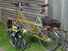 My Bikes Out in the Garden (cycle.nut66) Tags: leica space panasonic summicron frame parked folded lumi folder folding t6 brompton moulton tsr27 xlx3