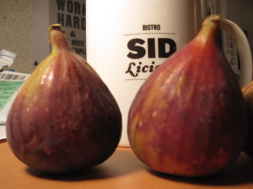 Figs and tea from the bistro - free