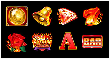 free Burning Desire slot game symbols