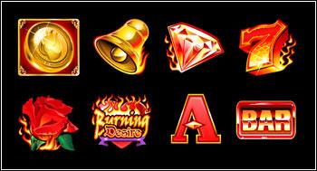 free Burning Desire slot game symbols